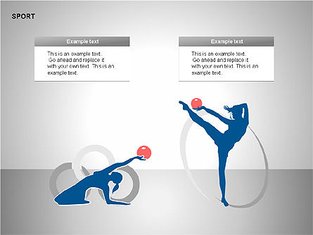 Free Sports Shapes Collection, Slide 5, 00255, Silhouettes — PoweredTemplate.com