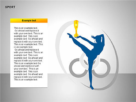 Free Sports Shapes Collection, Slide 6, 00255, Silhouettes — PoweredTemplate.com