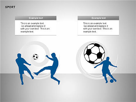 Free Sports Shapes Collection, Slide 7, 00255, Silhouettes — PoweredTemplate.com
