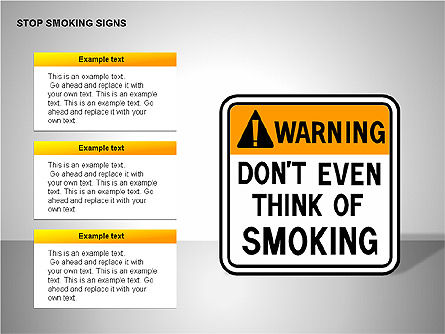 Free Stop Smoking Signs, Slide 10, 00256, Medical Diagrams and Charts — PoweredTemplate.com