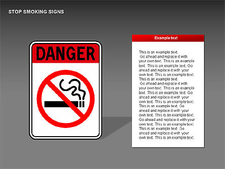 Free Stop Smoking Signs, Slide 13, 00256, Medical Diagrams and Charts — PoweredTemplate.com