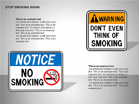 Free Stop Smoking Signs, Slide 14, 00256, Medical Diagrams and Charts — PoweredTemplate.com