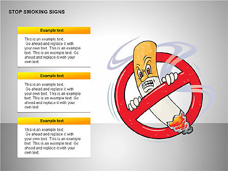 Free Stop Smoking Signs, Slide 15, 00256, Medical Diagrams and Charts — PoweredTemplate.com