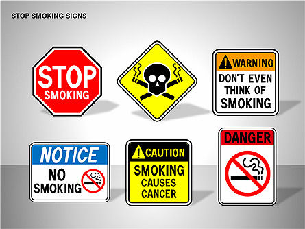 Free Stop Smoking Signs, Slide 16, 00256, Medical Diagrams and Charts — PoweredTemplate.com