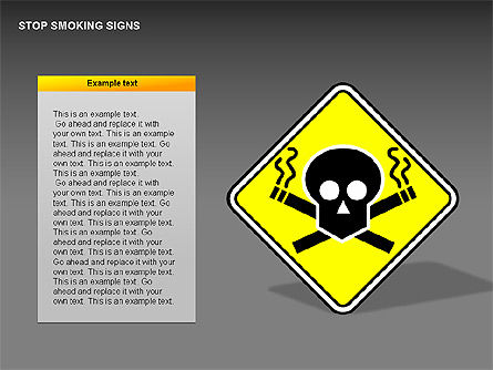 Free Stop Smoking Signs, Slide 2, 00256, Medical Diagrams and Charts — PoweredTemplate.com