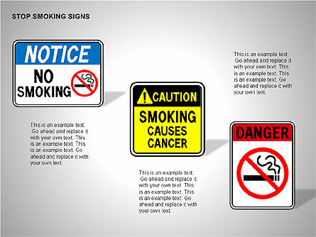 Free Stop Smoking Signs, Slide 4, 00256, Medical Diagrams and Charts — PoweredTemplate.com