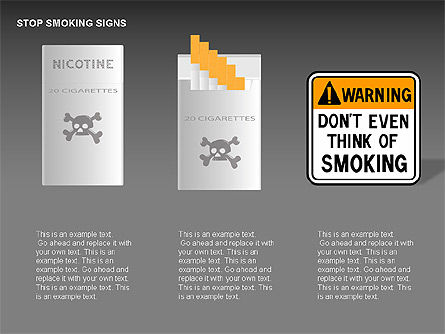 Free Stop Smoking Signs, Slide 5, 00256, Medical Diagrams and Charts — PoweredTemplate.com