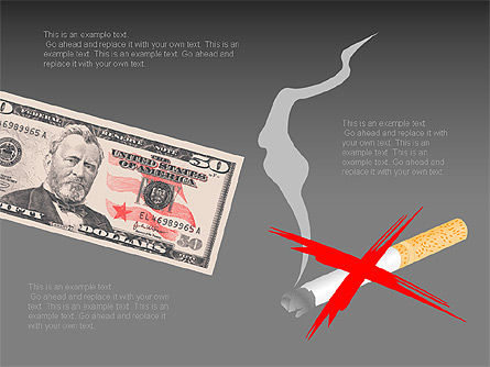 Free Stop Smoking Signs, Slide 7, 00256, Medical Diagrams and Charts — PoweredTemplate.com