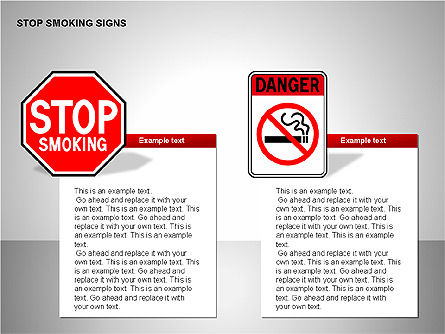Free Stop Smoking Signs, Slide 8, 00256, Medical Diagrams and Charts — PoweredTemplate.com