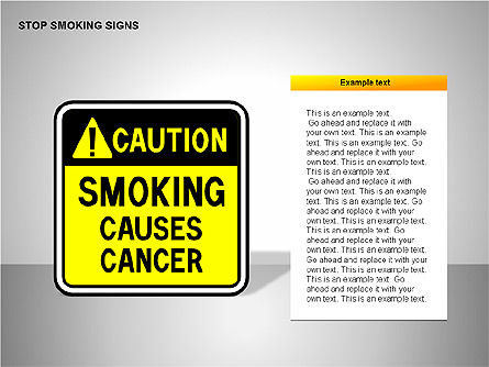Free Stop Smoking Signs, Slide 9, 00256, Medical Diagrams and Charts — PoweredTemplate.com
