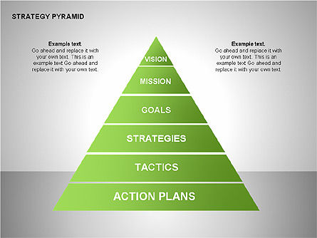 Organizational Charts: Strategy Pyramid Diagrams #00257