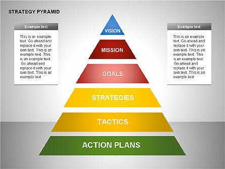 Strategy Pyramid Diagrams, Slide 10, 00257, Organizational Charts — PoweredTemplate.com