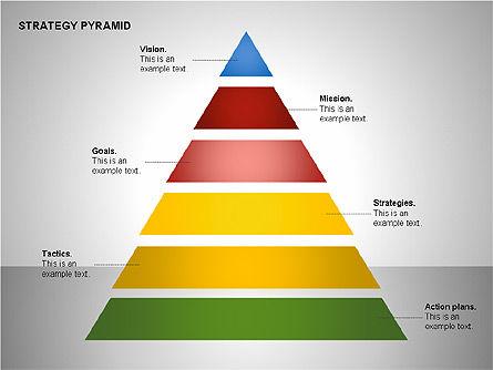 Strategy Pyramid Diagrams, Slide 11, 00257, Organizational Charts — PoweredTemplate.com