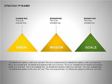 Strategy Pyramid Diagrams, Slide 13, 00257, Organizational Charts — PoweredTemplate.com