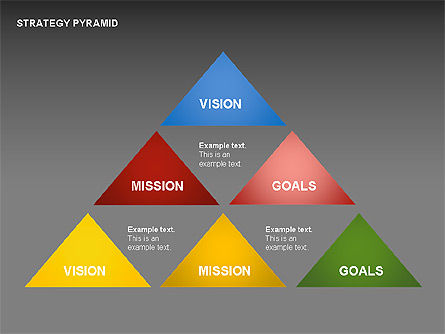 Strategy Pyramid Diagrams, Slide 14, 00257, Organizational Charts — PoweredTemplate.com