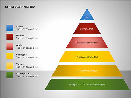 Strategy Pyramid Diagrams, Slide 15, 00257, Organizational Charts — PoweredTemplate.com