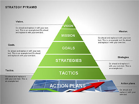 Strategy Pyramid Diagrams, Slide 2, 00257, Organizational Charts — PoweredTemplate.com