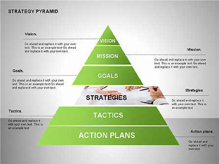 Strategy Pyramid Diagrams, Slide 4, 00257, Organizational Charts — PoweredTemplate.com
