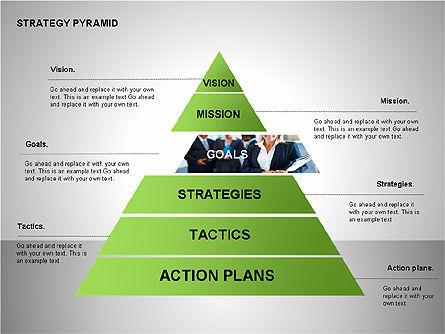 Strategy Pyramid Diagrams, Slide 5, 00257, Organizational Charts — PoweredTemplate.com