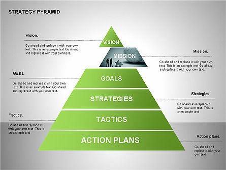 Strategy Pyramid Diagrams, Slide 6, 00257, Organizational Charts — PoweredTemplate.com