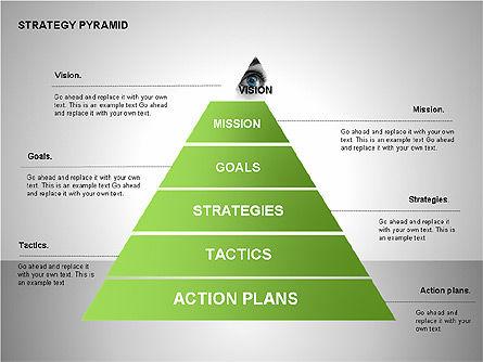 Strategy Pyramid Diagrams, Slide 7, 00257, Organizational Charts — PoweredTemplate.com
