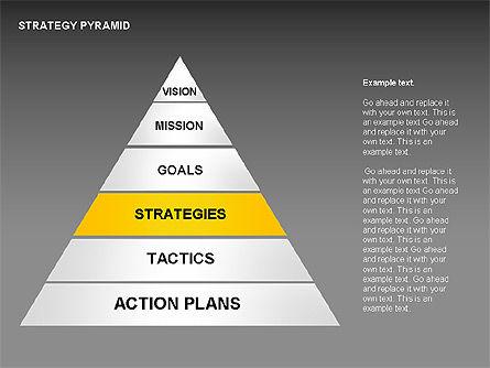 Strategy Pyramid Diagrams, Slide 8, 00257, Organizational Charts — PoweredTemplate.com