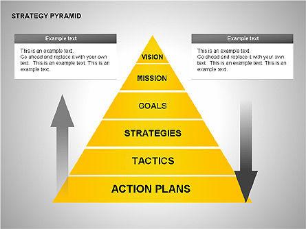 Strategy Pyramid Diagrams, Slide 9, 00257, Organizational Charts — PoweredTemplate.com