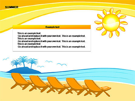 Summer Diagrams, Slide 4, 00258, Text Boxes — PoweredTemplate.com