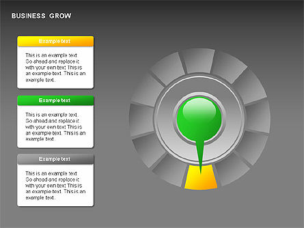 Business Growth Stages Diagrams, Slide 10, 00259, Stage Diagrams — PoweredTemplate.com