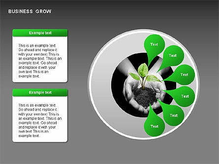 Business Growth Stages Diagrams, Slide 2, 00259, Stage Diagrams — PoweredTemplate.com