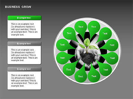 Business Growth Stages Diagrams, Slide 4, 00259, Stage Diagrams — PoweredTemplate.com