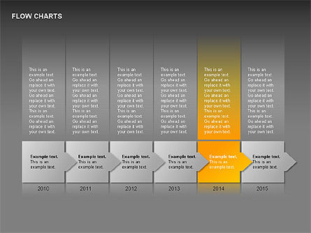 Timeline Diagram Collection, Slide 12, 00260, Timelines & Calendars — PoweredTemplate.com