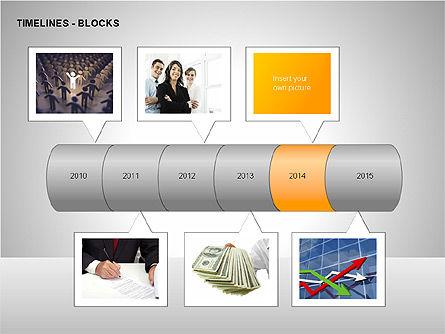 Timeline Diagram Collection, Slide 14, 00260, Timelines & Calendars — PoweredTemplate.com