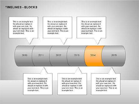 Timeline Diagram Collection, Slide 15, 00260, Timelines & Calendars — PoweredTemplate.com