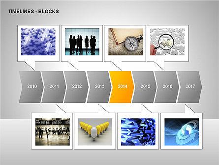 Timeline Diagram Collection, Slide 3, 00260, Timelines & Calendars — PoweredTemplate.com