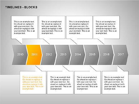 Timeline Diagram Collection, Slide 4, 00260, Timelines & Calendars — PoweredTemplate.com