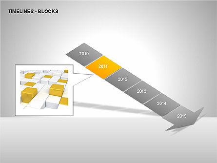 Timeline Diagram Collection, Slide 5, 00260, Timelines & Calendars — PoweredTemplate.com