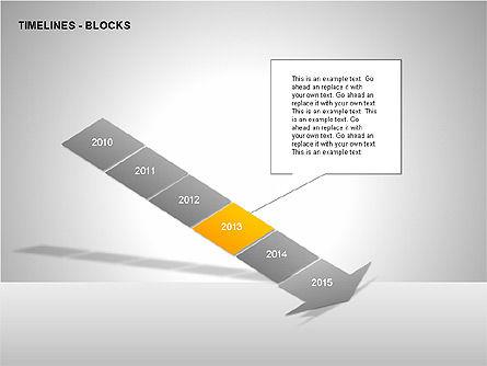 Timeline Diagram Collection, Slide 6, 00260, Timelines & Calendars — PoweredTemplate.com