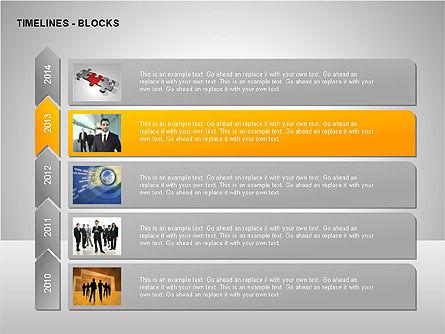 Timeline Diagram Collection, Slide 7, 00260, Timelines & Calendars — PoweredTemplate.com