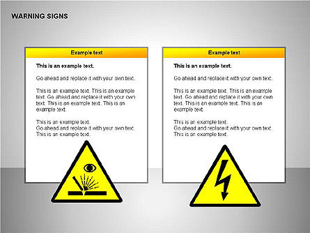Warning Signs Collection, Slide 4, 00261, Shapes — PoweredTemplate.com