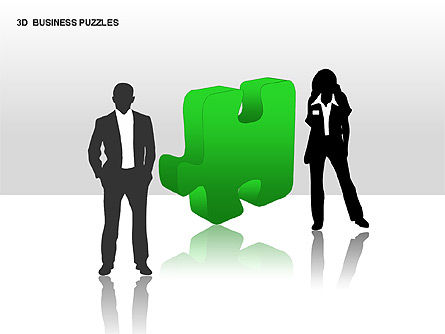 Puzzle Diagrams: 3D Business Puzzles #00262