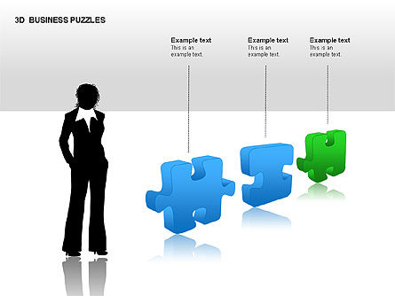 3D Business Puzzles, Slide 10, 00262, Puzzle Diagrams — PoweredTemplate.com