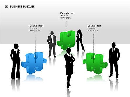 3D Business Puzzles, Slide 11, 00262, Puzzle Diagrams — PoweredTemplate.com