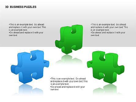 3D Business Puzzles, Slide 12, 00262, Puzzle Diagrams — PoweredTemplate.com