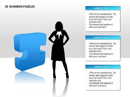 3D Business Puzzles, Slide 13, 00262, Puzzle Diagrams — PoweredTemplate.com