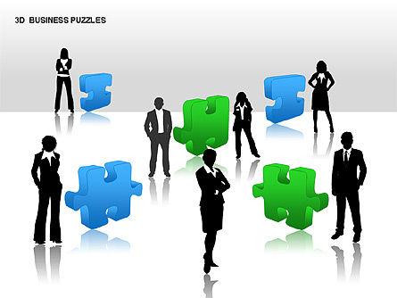 3D Business Puzzles, Slide 15, 00262, Puzzle Diagrams — PoweredTemplate.com