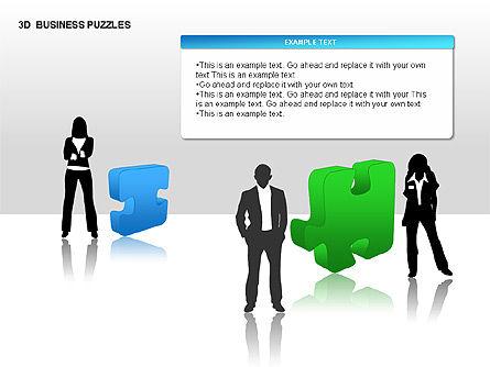 3D Business Puzzles, Slide 2, 00262, Puzzle Diagrams — PoweredTemplate.com