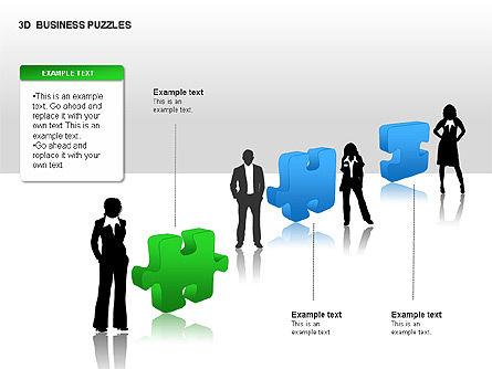 3D Business Puzzles, Slide 3, 00262, Puzzle Diagrams — PoweredTemplate.com