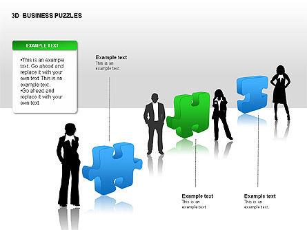 3D Business Puzzles, Slide 4, 00262, Puzzle Diagrams — PoweredTemplate.com