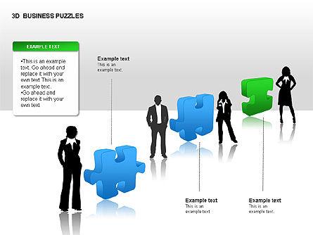 3D Business Puzzles, Slide 5, 00262, Puzzle Diagrams — PoweredTemplate.com